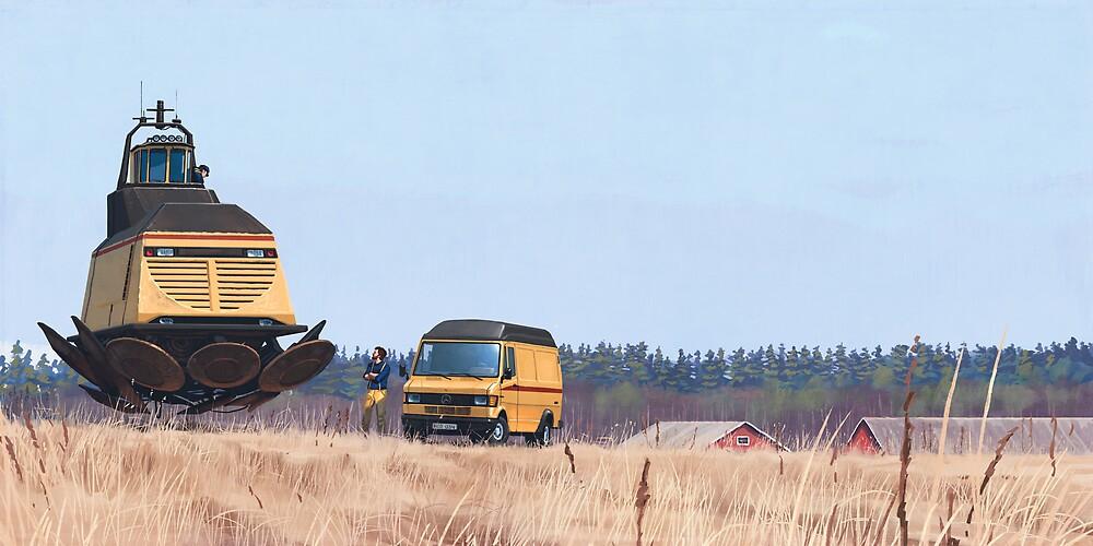 Lokskepp T-50 by Simon Stålenhag
