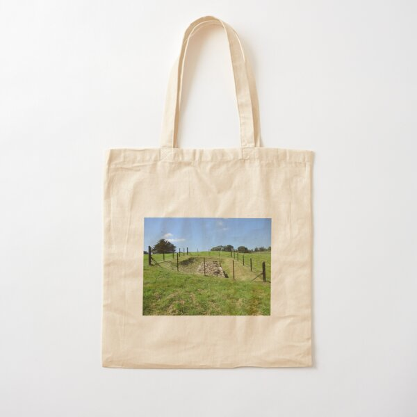 Merch #100 -- Fenced Off Rock Remains (Hadrian's Wall) Cotton Tote Bag