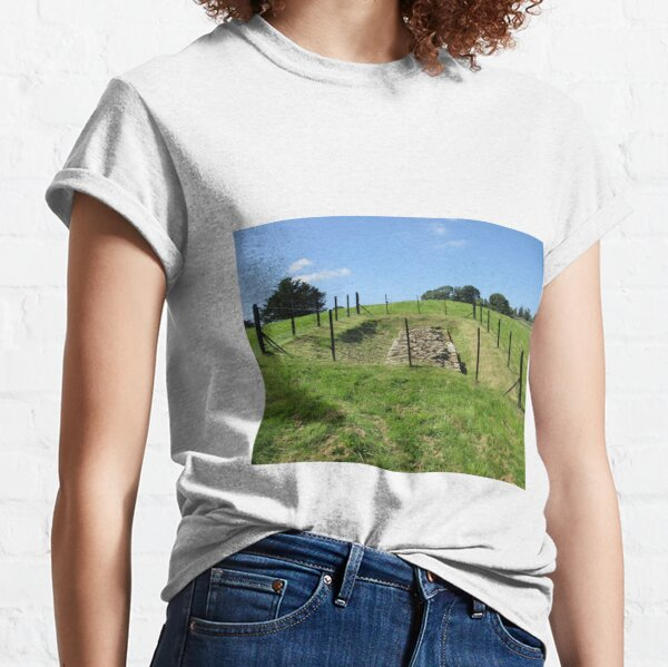 Merch #100 -- Fenced Off Rock Remains (Hadrian's Wall) Classic T-Shirt