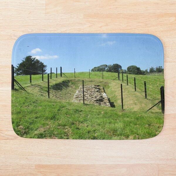 Merch #100 -- Fenced Off Rock Remains (Hadrian's Wall) Bath Mat