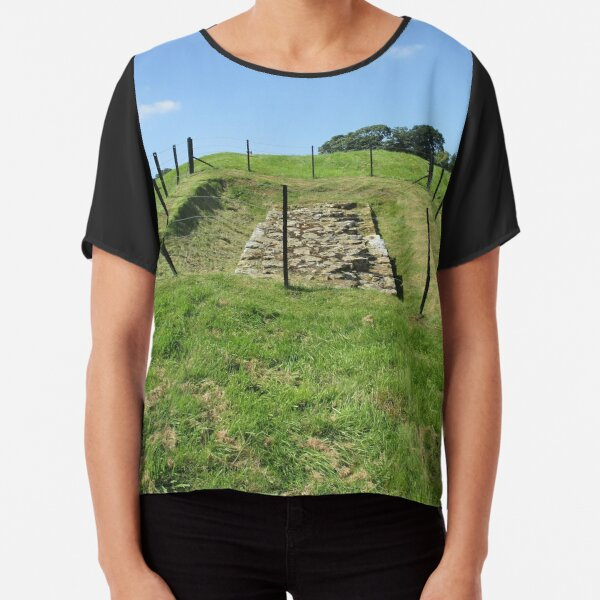 Merch #100 -- Fenced Off Rock Remains (Hadrian's Wall) Chiffon Top