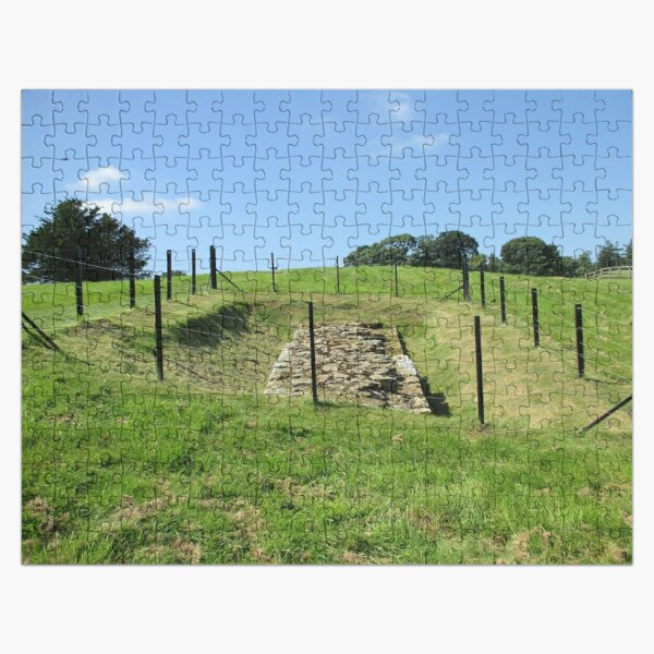 Merch #100 -- Fenced Off Rock Remains (Hadrian's Wall) Jigsaw Puzzle