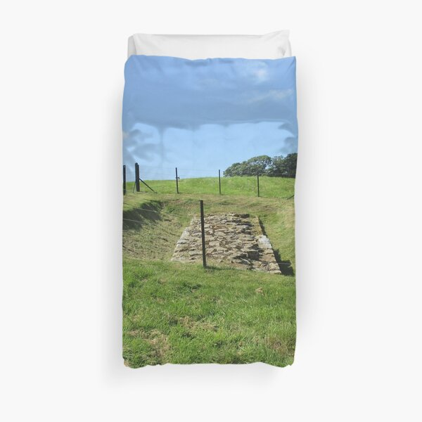 Merch #100 -- Fenced Off Rock Remains (Hadrian's Wall) Duvet Cover