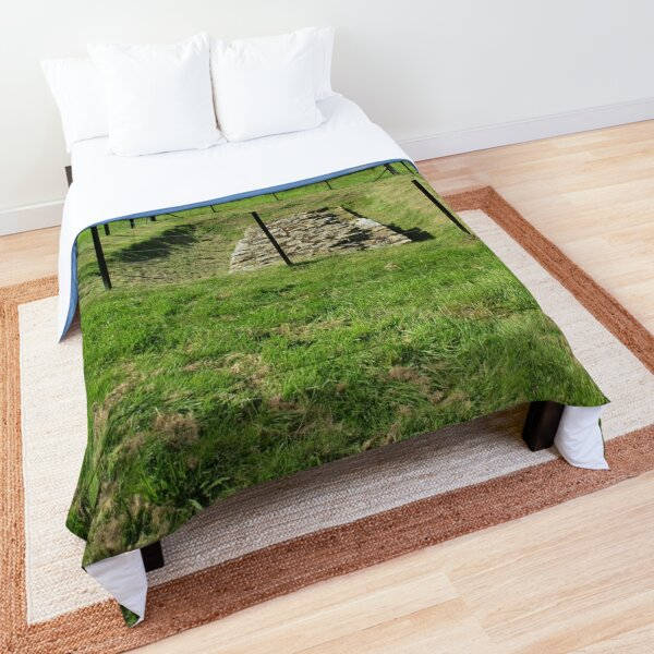Merch #100 -- Fenced Off Rock Remains (Hadrian's Wall) Comforter