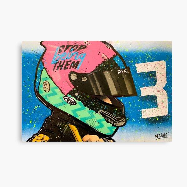 Daniel Ricciardo - Renault F1 graffiti painting by DRAutoArt Canvas Print