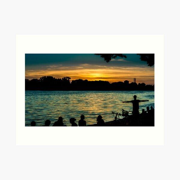 sunset at maschsee Art Print