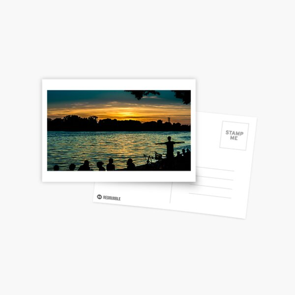 sunset at maschsee Postcard