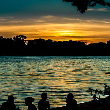 sunset at maschsee by dirkhinz