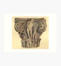 Roman column - architecture Art Print