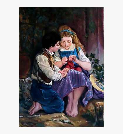 A special moment after Emile Munier Photographic Print