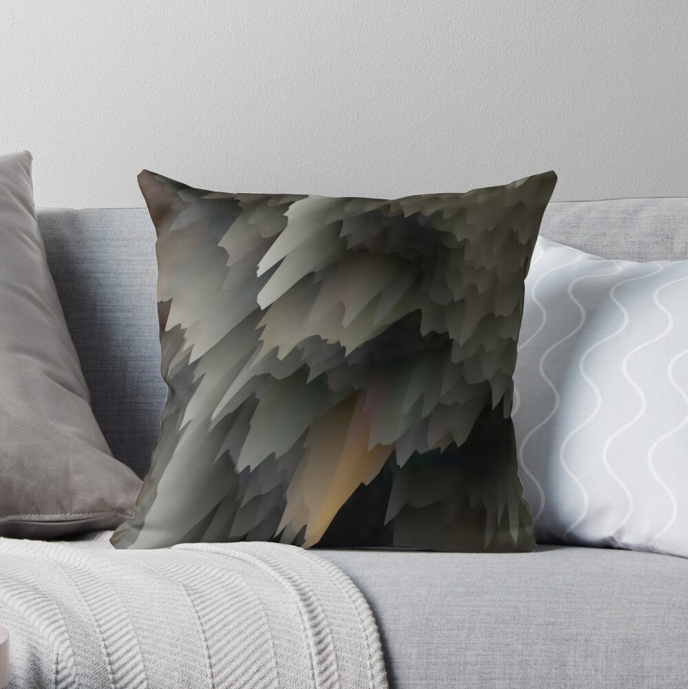 Abstract acrylics patterns Crystal madness design collection no. 010 Throw Pillow