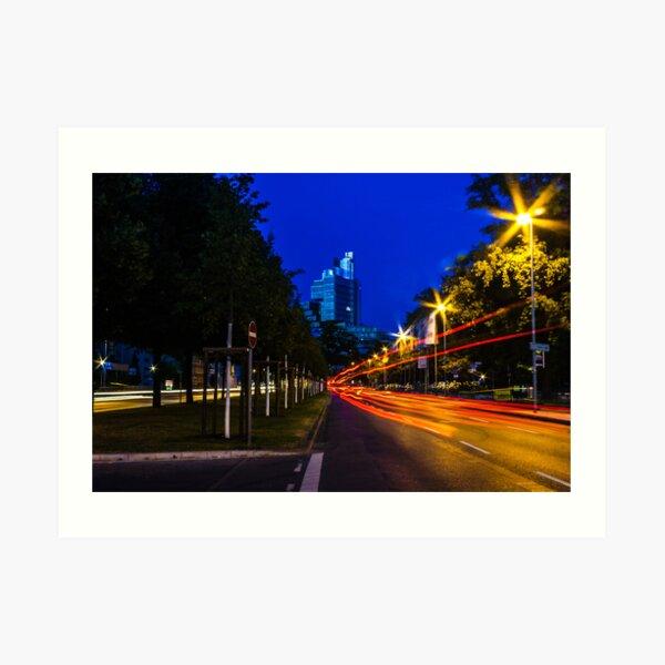blue hour at friedrichswall (1) Art Print
