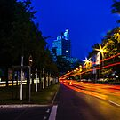 blue hour at friedrichswall (1) by dirk hinz