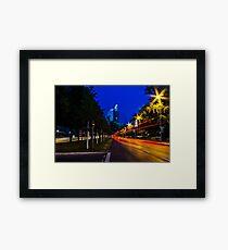 blue hour at friedrichswall (1) Framed Print