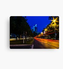 blue hour at friedrichswall (1) Canvas Print