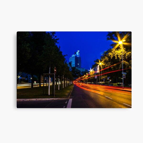blue hour at friedrichswall (1) Canvas Print