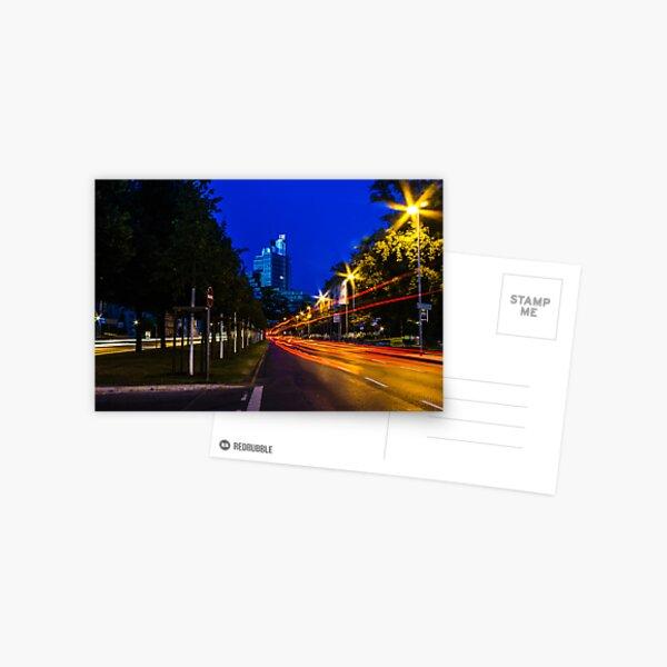 blue hour at friedrichswall (1) Postcard