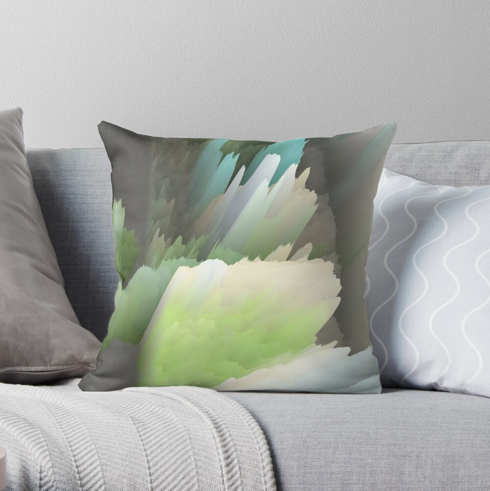 Abstract acrylics patterns Crystal madness design collection no. 012 Throw Pillow