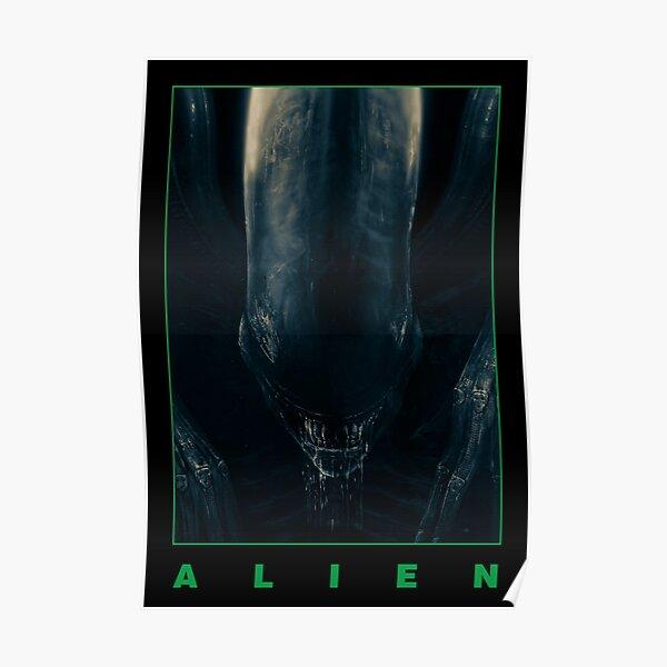 Alien - The Xenomorph - Imprimé noir minimaliste Poster