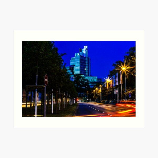 blue hour at friedrichswall (2) Art Print