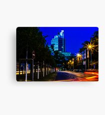 blue hour at friedrichswall (2) Canvas Print