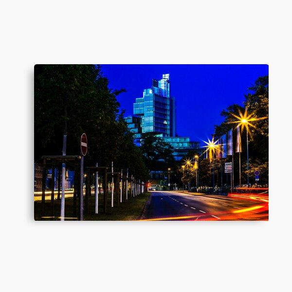 blue hour at friedrichswall (2) Canvas Print