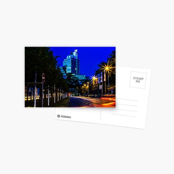 blue hour at friedrichswall (2) Postcard