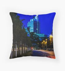 blue hour at friedrichswall (2) Throw Pillow