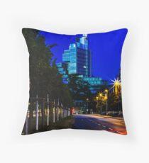 blue hour at friedrichswall (2) Throw Pillow