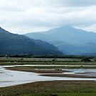 Snowdonia from Porthmadoc Cob by Paul  Green