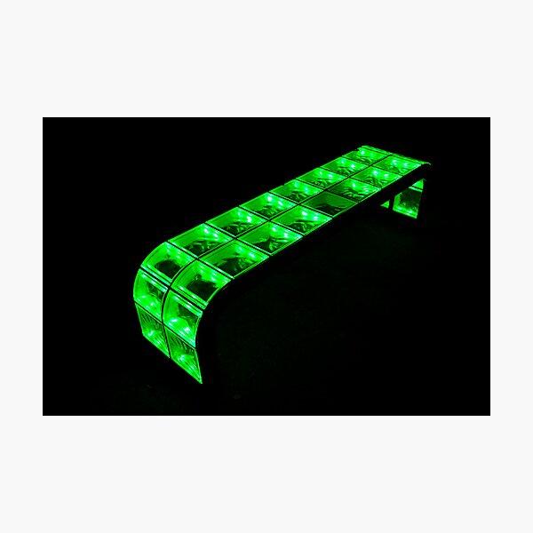 green bench Photographic Print