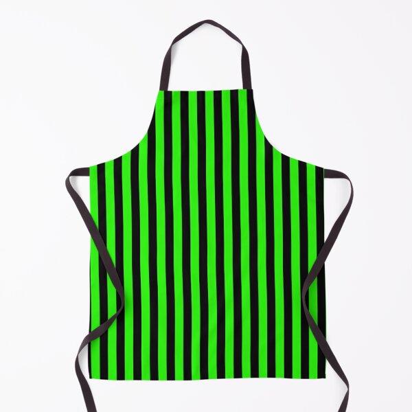 Green Stripes Black Stripes Apron