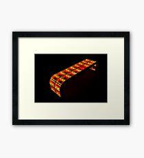 yellow-orange bench Framed Print