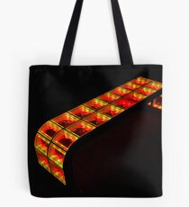 yellow-orange bench Tote Bag