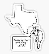 texas humor Sticker