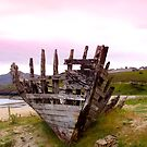 Tarmine Boat Wreck by Sue Fallon Photography