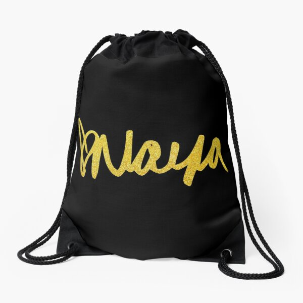 Naya Glitter Gold fonts Drawstring Bag