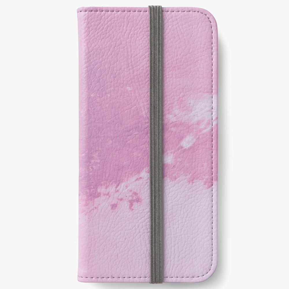 Texture pink concreet iPhone Wallet