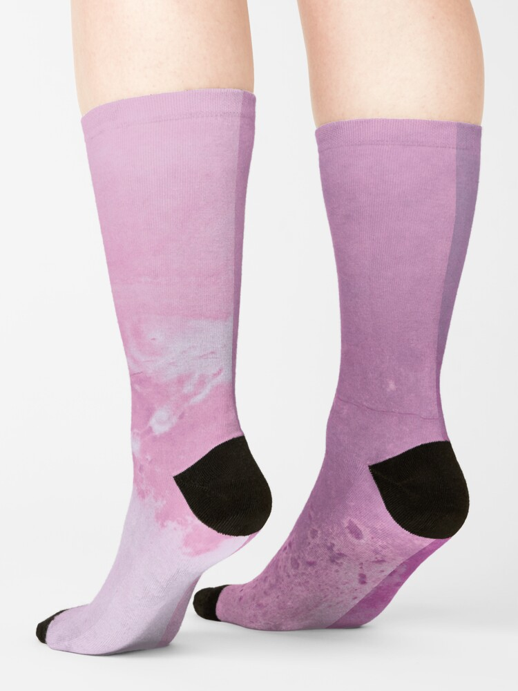 Alternate view of Texture pink concreet Socks