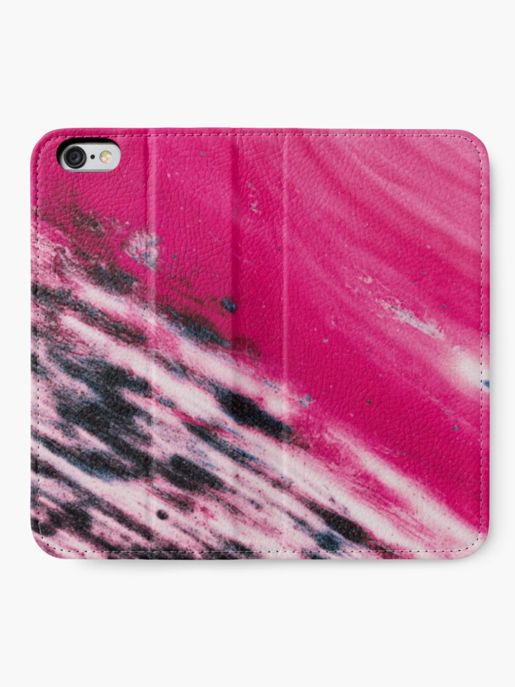 Alternate view of Texture pink and blue paint pattern iPhone Wallet