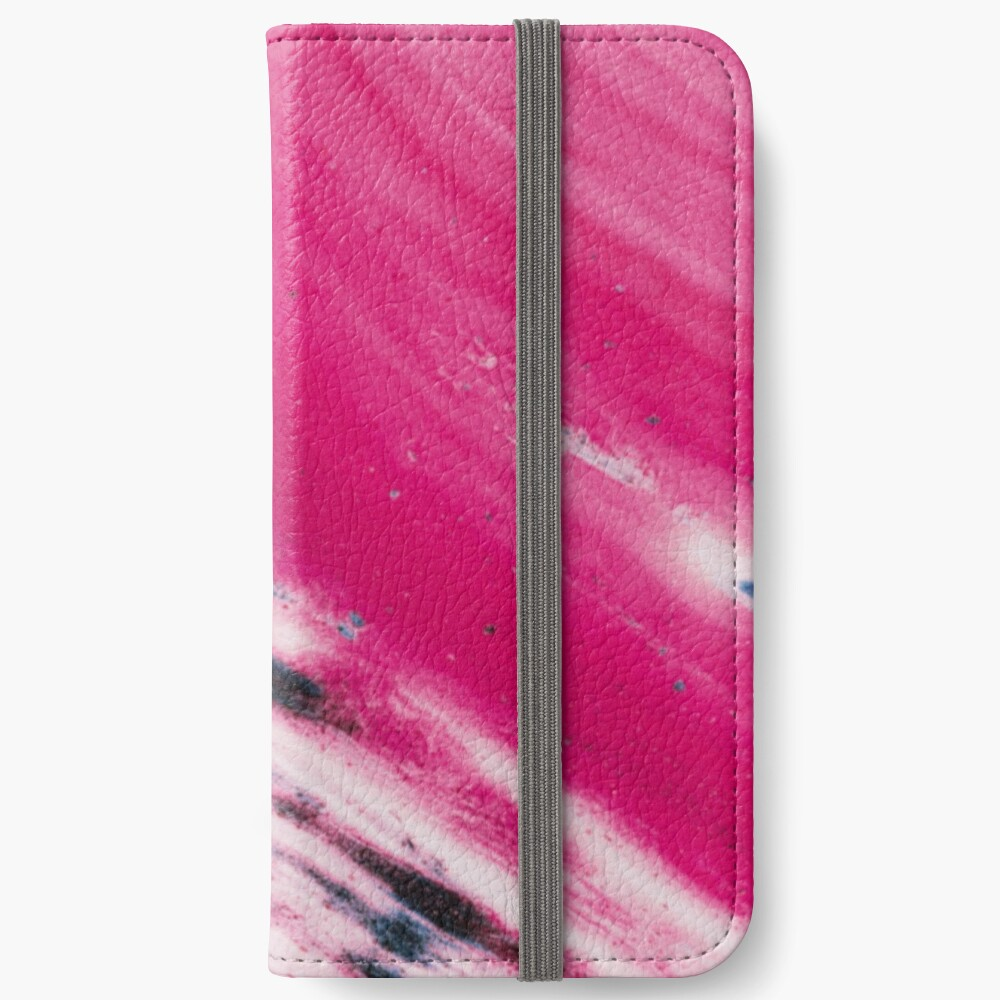 Texture pink and blue paint pattern iPhone Wallet