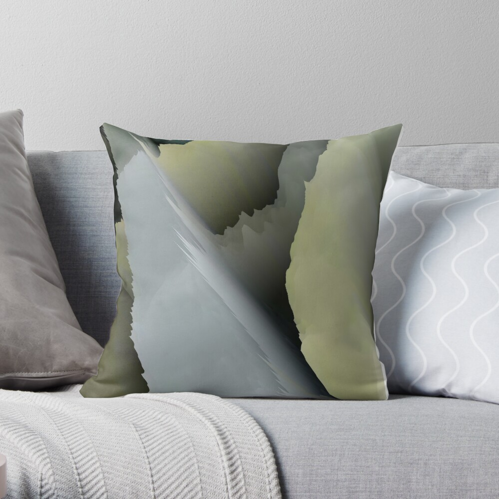 Abstract acrylics patterns Crystal madness design collection no. 019 Throw Pillow