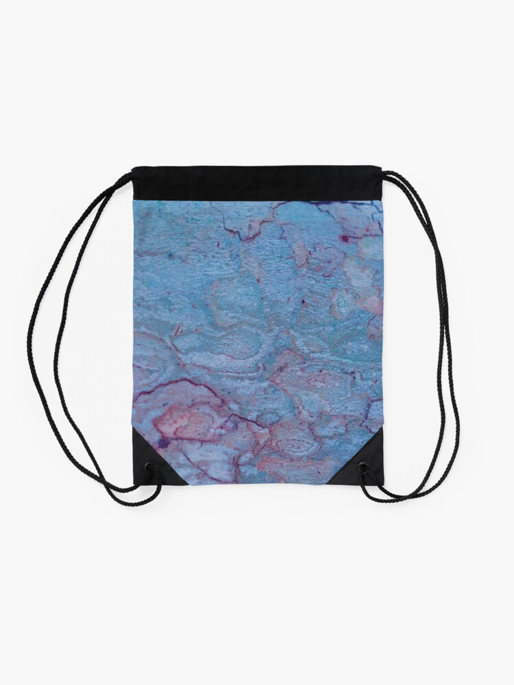 Alternate view of Texture blue stone structure Drawstring Bag
