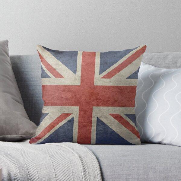 Union Jack Throw Blanket - Warm Winter Blanket with UK Flag Throw Pillow