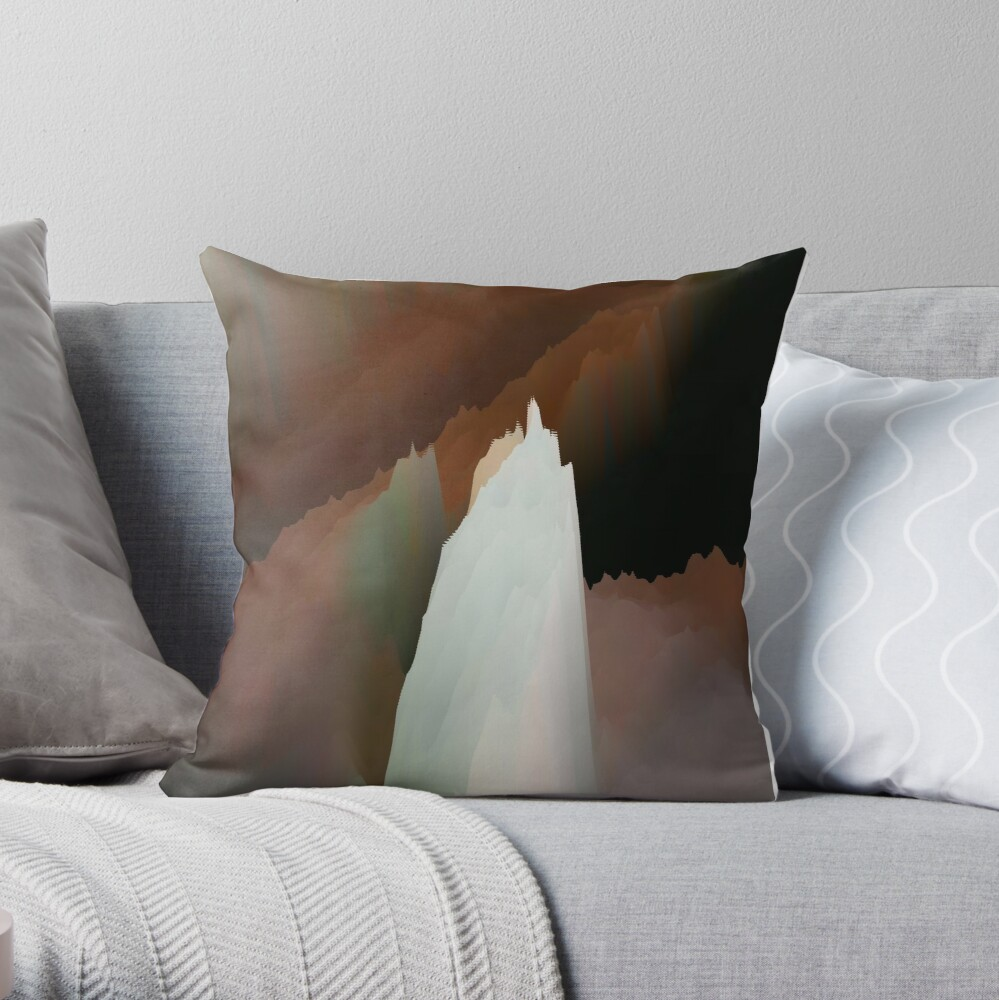 Abstract acrylics patterns Crystal madness design collection no. 024 Throw Pillow