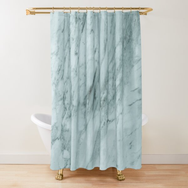 Texture green marble structure Shower Curtain