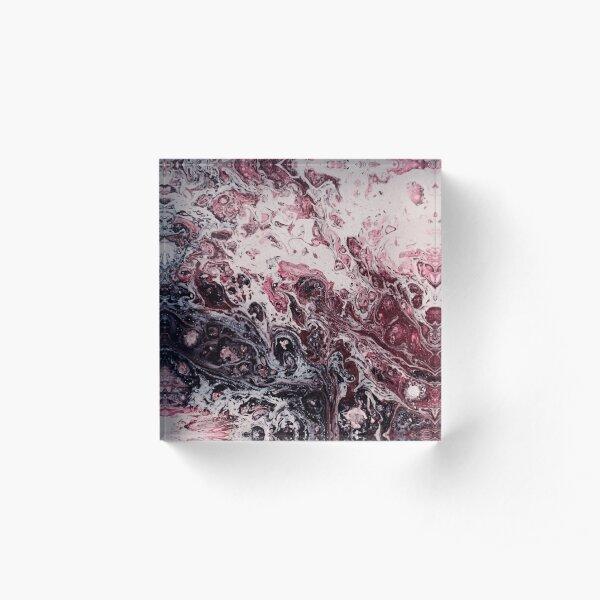 Texture bordeaux marble structure Acrylic Block