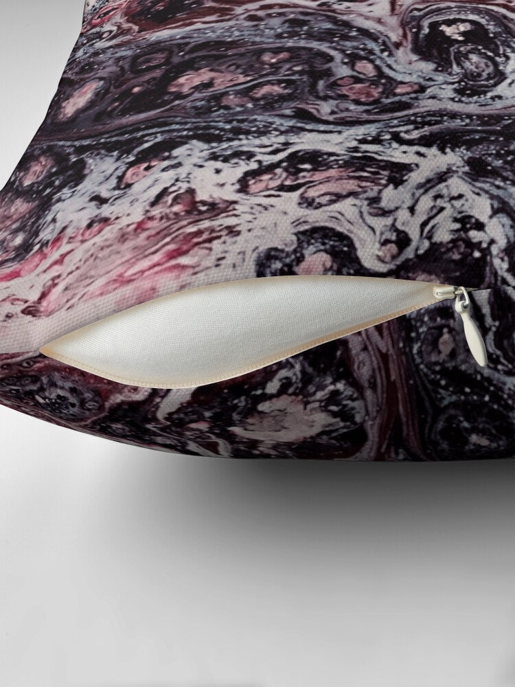 Alternate view of Texture bordeaux marble structure Throw Pillow