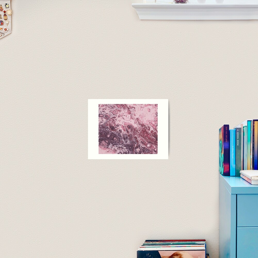 Texture pink marble structure Art Print