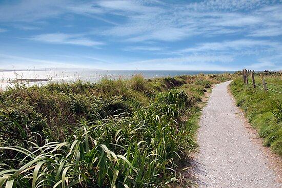 coastal gravel cliff path by morrbyte